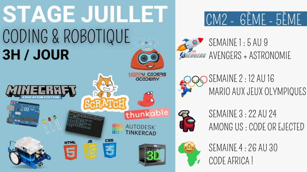 atelier de coding et robotique